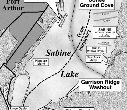 Map Feature Sabine Lake