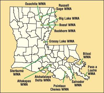 louisiana public hunting land map Louisiana Sportsman louisiana public hunting land map