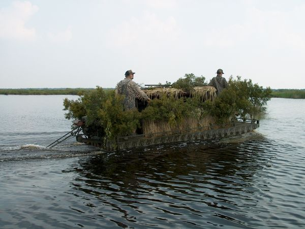 Tips For Duck Hunting Out Of Popup Boat Blinds