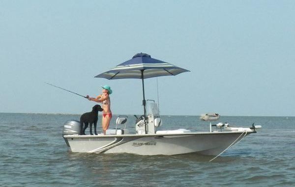Hydra Shade 8' Square Boating & Beach Umbrella 4 Piece Kit ...   Bass Boat Umbrella