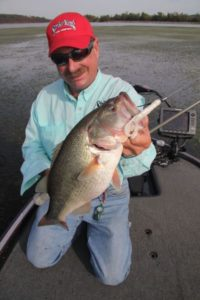 Bass legend Shaw Grigsby knows that the active presentation of a Strike King Rage Craw will interest feeding bass.