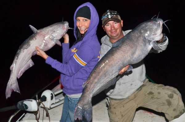 How to catch nighttime catfish with juglines