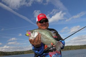 Crappie pros like Wally Marshall know that bright colors can be very effective in late fall.