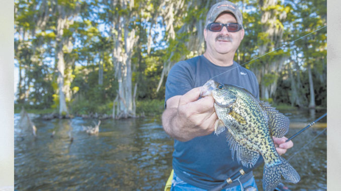 Tim Bye would rather wait until after crappie finish their spawning rituals and move out.