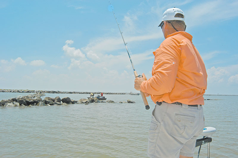 The payoff for losing jigs to underwater rocks can come in the form of lunker trout.