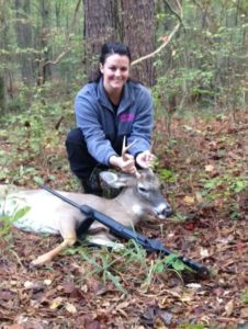 Ree Anderson's first buck was taken 7 yards from a ground blind.