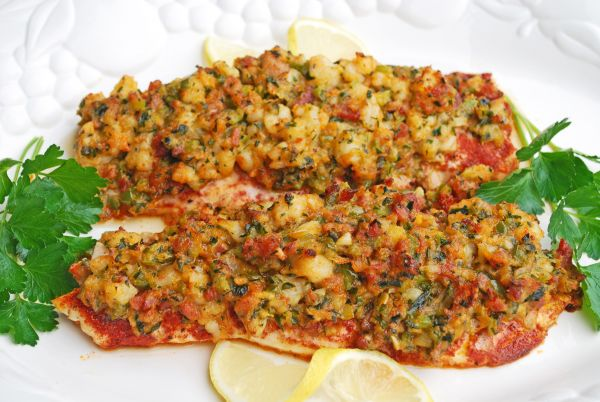 Shrimp and Tasso-Stuffed Fish is an attractive dish and is easy to make.