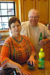Pam and Ricky Ruffin are charming Southern hosts and great cooks.
