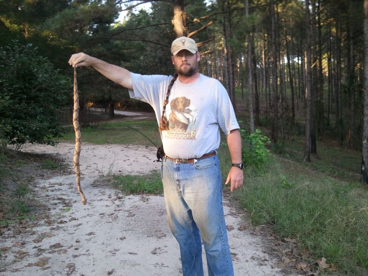 Snakes are likely to be out during the early season, so you need to wear snake boots when sneaking up on squirrels.