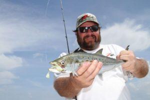Slightly deeper rigs offer species such as hard-fighting Spanish mackerel.