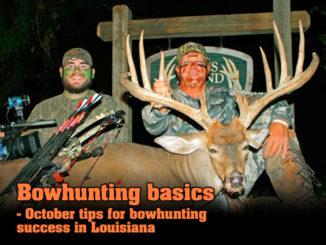 Bowhunting basics - October tips for bowhunting success in Louisiana