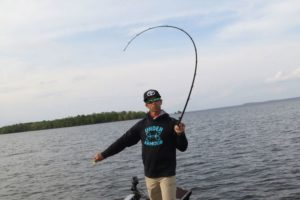 The flex of a parabolic rod absorbs initial strike force and allows treble hooks time to set.