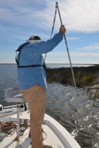 Cajun anchors are simple and inexpensive tools, but ideal for the kind of fishing that the inner marshes of Delacroix provide.