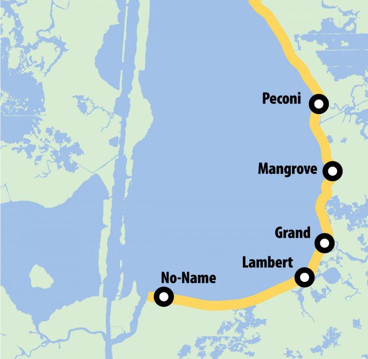 map of calcasieu lake Louisiana Sportsman map of calcasieu lake