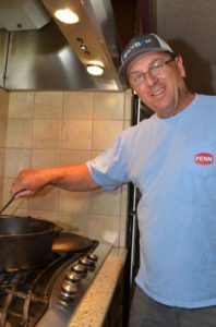 Tommy Pellegrin is a creative cook and cooks for the family often.