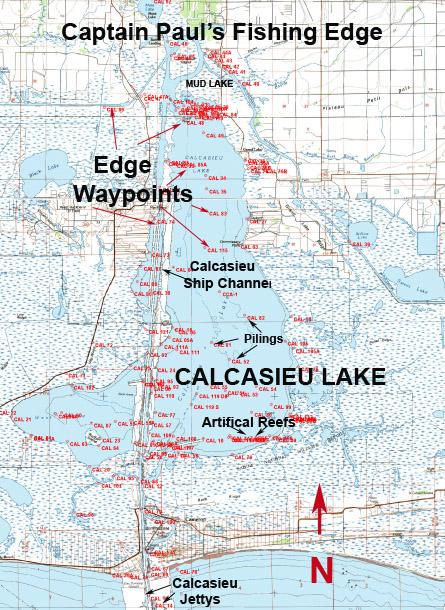 map of calcasieu lake Waypoints For Big Lake map of calcasieu lake