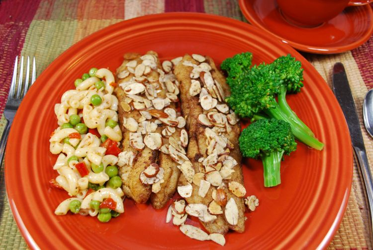 Toasted almonds are a perfect match with the butter-browned fish fillets in Trout Amandine.