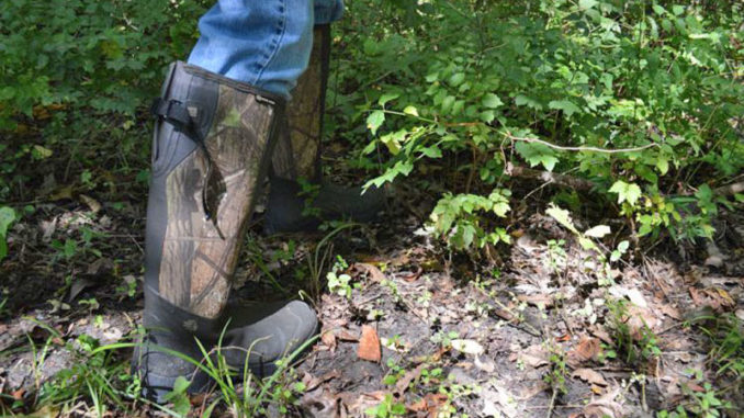 A good pair of snake boots are a must in the early season. With the summer heat lingering in September, snakes are still active.