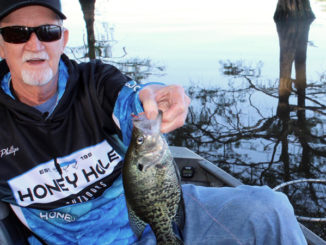 Bobby Phillips with a chunky D'Arbonne Lake crappie.