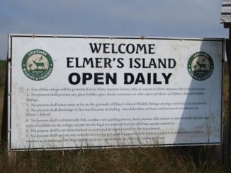 Elmer's Island Sign