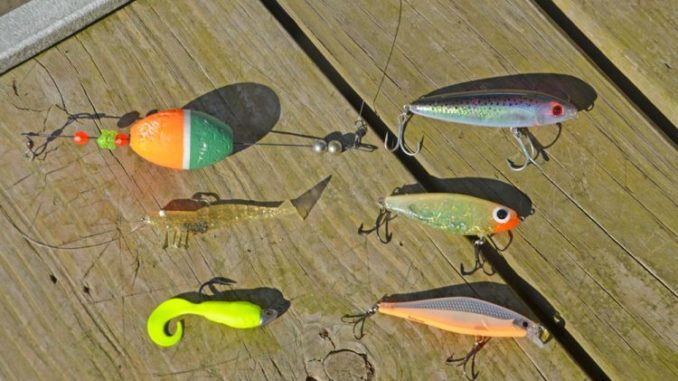 Lessard's lure selection for chasing a slam.