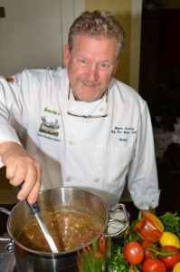 Buddy Callahan's personality is as big and bold as his cooking.