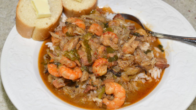 Todd's seafood stew is a meaty blend of Louisiana's coastal offerings.