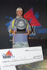 No stranger to the stage, Benton Parrott scored his fourth IFA Kayak Tour Championship win recently in Grand Isle.
