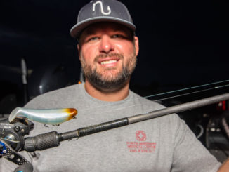 Mississippi pro Brock Mosley said a short mono leader is all that's needed to provide a little stretch between braid and topwater lures like the Bill Lewis StutterStep.
