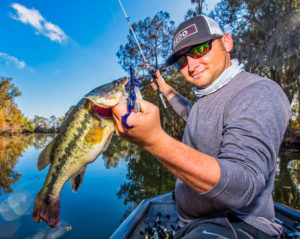 You don't have to run a long way from the launch in late fall and winter to find success. Adam Cook and his uncle Kurt Cook burn almost no fuel while catching 20 to 40 bass a trip.