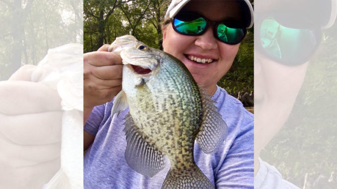Big crappie like this is why Brittney Naron loves D'Arbonne Bayou.