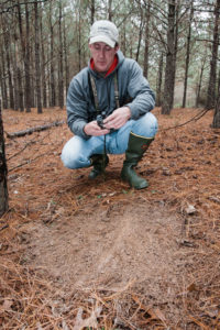 Try to rile up a big buck by making a large mock scrape right in the middle of an established scrape line.