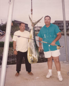 Ted Tedesco caught the state record dolphin, which weighed 29.37 pounds, on a fly in 1993. The record still stands today.