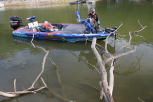 Laydowns along the edges of creek channels are prime crappie spots.