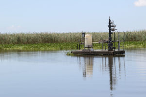 Drilling industry structures scattered throughout the marsh can be crappie magnets, as long as baitfish are present.