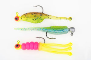 The Mr. Crappie Shad Pole, Lightning Shad and Joker offer an effective selection for this time of year.