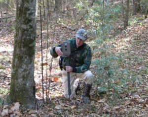 Setting up a trail camera