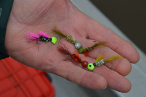 Murphy Royer fishes with nothing but hair jigs and ties them himself.