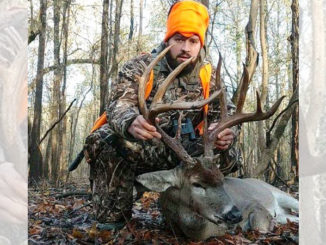 Andrew Beach and his Caldwell Parish 20-point buck.