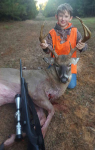 Jake Glass killed this mature 7-point buck in Area 2 during the rut in November.
