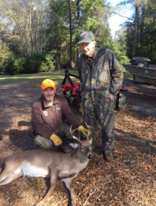 Jimmy Stafford hunted with his father on family land in St Helena Parish, killed a nice adult 6-point and made a lasting memory.