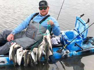 "During some of the last cold fronts, Scott Toups fished the bayous around Catfish Lake in Golden Meadow. ""There's a lot of fish close to the public launch, and they can easily be reached by kayak or a small boat. We focused on deep, dead-end bayous fishing with a variety of soft plastics."""