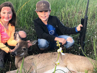 Whitney Defelice downed her first deer — a doe near Cypremort Point — earlier this fall. Her brother Ethan coached her through the shot — and helped drag it out of the marsh.