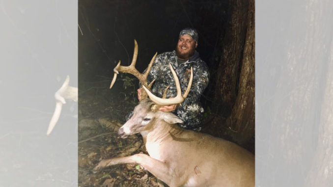 Brantley Ray of Mound nailed this big Madison Parish 13-pointer at 200 yards on Nov. 10.