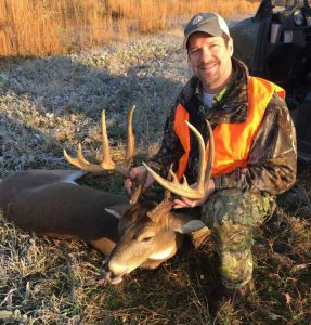 Brent Smart, of Mangham, shot this 11-pointer on Dec. 6 coming out of his CRP land. The buck green-scored just north of 160 inches at Simmons' Sporting Goods in Bastrop.