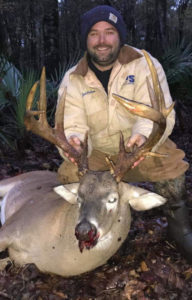 Zack Calhoun almost harvested this buck last seen when its rack was messed up, but he let it walk — and it turned out to be a fine Concordia Parish 12-pointer that green-scored 171 inches.