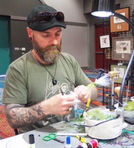 Pat Cohen of Cobblestone, New York, one of the world's top fly tiers, was featured at the Contraband Fly Fishing Expo in July.
