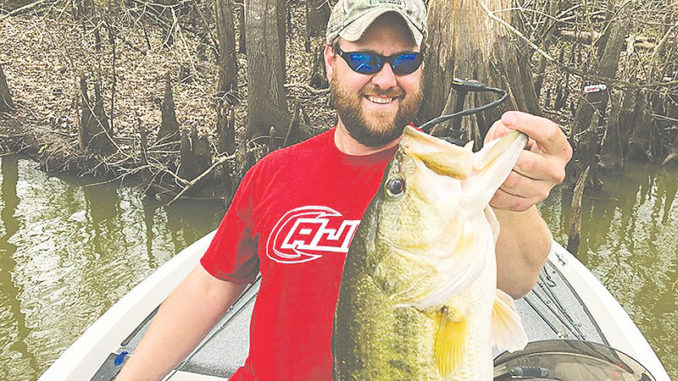 Zachary Brazda of Arnaudville caught a 9.4-pound beauty, while fishing a Carencro Bass Club tournament.