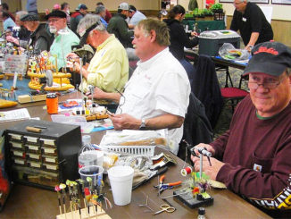 One sure way for novice fly tiers to advance their skills is by attending a fly festival. At the Cenla Fly Festival last year, expert fly tiers from across the region demonstrated a wide variety of flies.