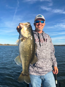 Toledo Bend guide Darold Gleason knows that fish reaction will tell him much about the area he's searching.